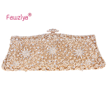 Fawziya Wedding Bag Flower Purses For Women Rhinestone Crystal Evening Clutch Bags