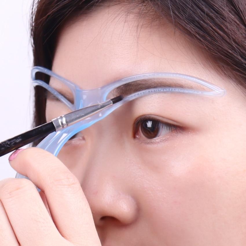 1PC Random Color Creative Popular Eyebrow Shaping Stencil Women Lady Eyebrow Shaper Makeup Kit Tool 1