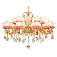 Araña moderna iluminación moderna sala dormitorio candelabro de cristal led comedor Aleación de oro y Zinc lámparas de araña de cristal LED