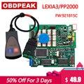 Lexia3  новинка 2019  с прошивкой Serial 921815C  золотой PCB  lexia PP2000  Lexia 3 Diagbox V7.83  Lexia-3  диагностический инструмент