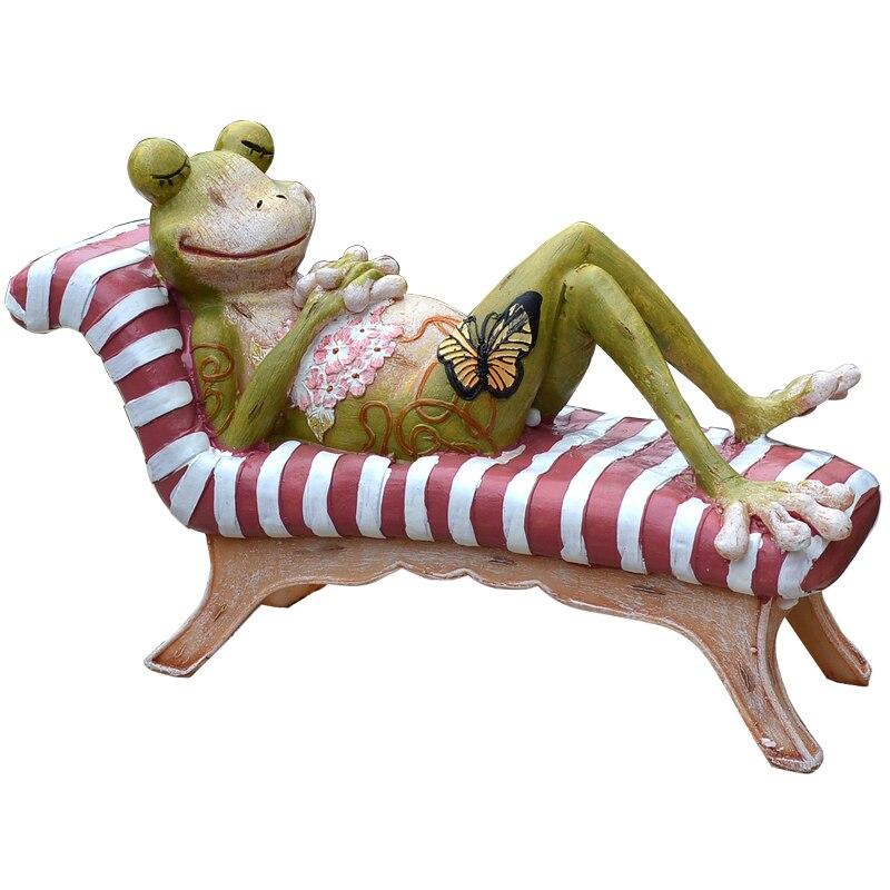 Charmant Aqumotic Garden Decoration For Home 23cm Relax Big Yard Green Frog Garden  Decor For Bathroom Cute