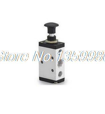 1x 5 port 2 pos 1/2 BSP Hand Operated Air Valve 4R410-15 Hand Return ct 340 hand operated grip universal can tap valve silver tone