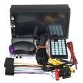 Lowest Price 7 Inch Black 12V Touch Screen 2Din Car MP5 FM AUX Player Bluetooth USB TF + Car Rear Camara USB TF AUX