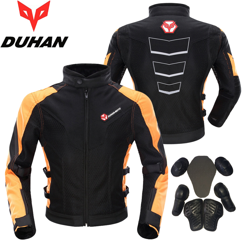 Brand DUHAN Summer Motorcycle Back and Elbow Protection Jacket Motocross Racing Clothing MOTO Mesh Blouson for Men M L XL XXL brand nerve motorcycle riding protection pants motocross moto racing gear breathable jeans trousers for men and women summer