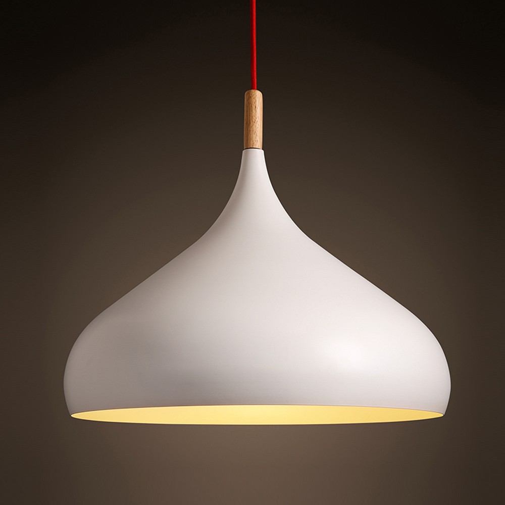 Japanese Wood Pendant Lights Solid Brief White Nordic