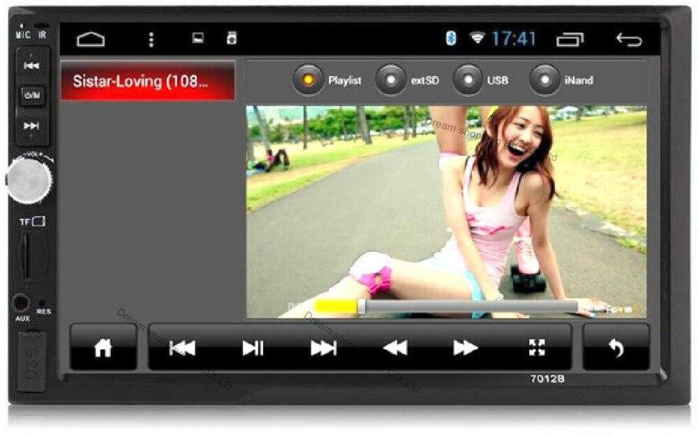 """imágenes para 7 """"Inch LCD 2 DIN Radio Del Coche de HD Reproductor MP5 12 V Auto en El Tablero de Pantalla Táctil Bluetooth USB/SD FM Estéreo Del Coche + Control Remoto Inalámbrico"""