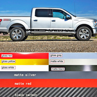 car decal 2 PC side door personality spotted raptor stripe graphic Vinyl sticker for F150 crew cab 2015 2016 2017 sticker