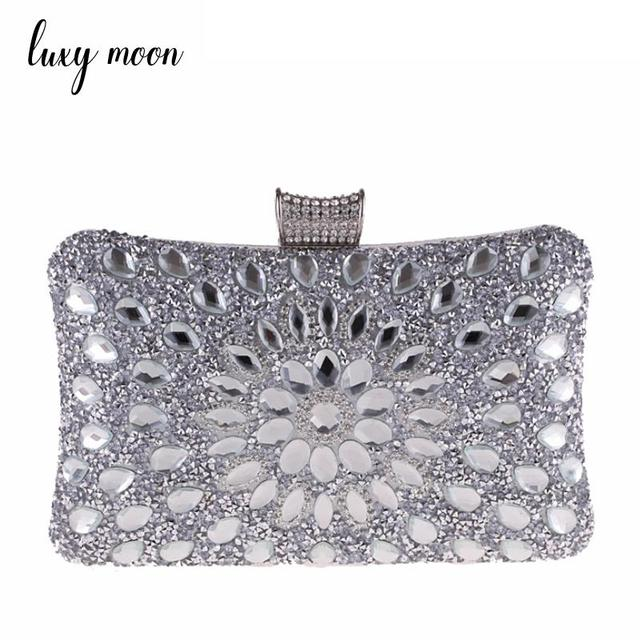 3a6d91a500e Luxy Moon Women Evening Bags Ladies Wedding Party Clutch Bag Gold Diamonds  Purses Clutches Purse Rhinestones Handbags ZD850