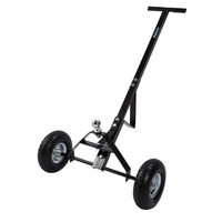 W 2 Wheels Metal Caravan Trailer Dolly Mover Heavy Duty T Handle Hand Trolley