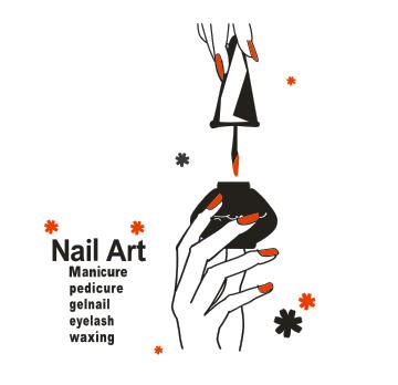 Nail Bar Vinyl Wall Decal Nail Art Polish Hand Varnish Polish