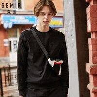 SEMIR мужская толстовка с флисовой подкладкой комплект из 2 предметов ребристые Crewneck Толстовка с вышивкой + тренировочные брюки Drawstring пояс