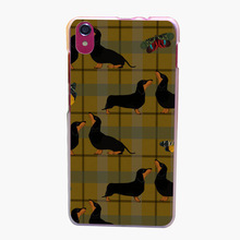 202QAO Yellow Tartan And Dachshund Transparent Hard for Lenovo S850 S850T S60 S90 A563 A358T A328