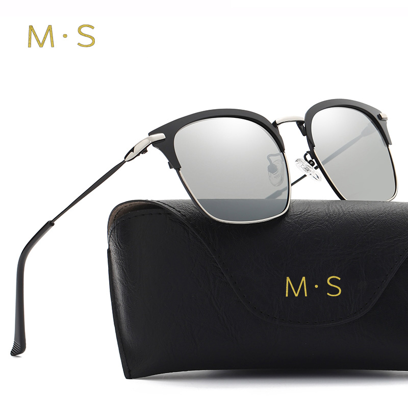 MS 2017 Polarized Sunglasses Male Fishing Female Outdoor Sports Eyewear For Men S' Driver Mirror Alloy Sun glasses  J36