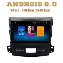 for Mitsubishi Outlander 2007 2012 Android 8 0 4g ram Octa Core Car radio gps with