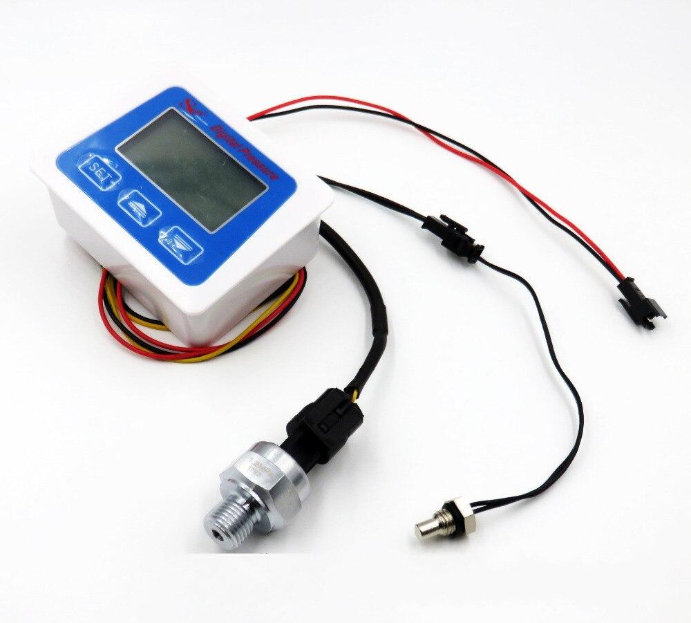 0-1.2mpa Digitale Druck Messinstrument-lehre Luft Wasser Druckmessumformer Piezometer Manometer Tester Thermometer Mit Sensor