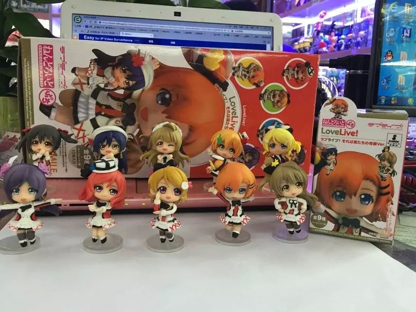 10pcs/set Love Live! School Idol Action Figures Anime PVC brinquedos Collection Model toys with retail box