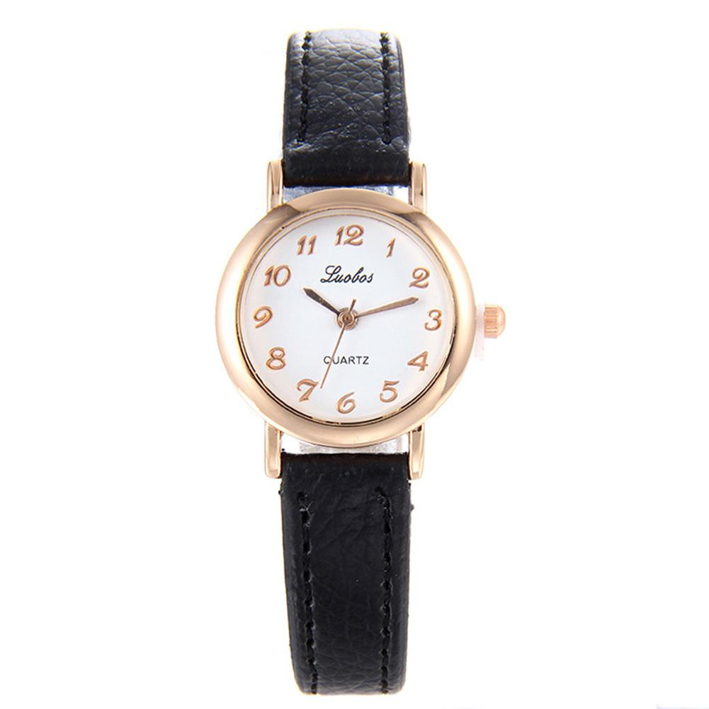 LinTimes Women Leather Strap Girls Electronic Watch Fashion Simple Wrist Watch