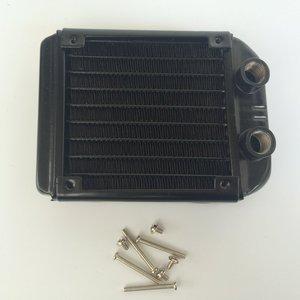 Image 3 - 90 millimetri Filettato Bocca Acqua Fila Scambiatore di Calore Del Radiatore di Raffreddamento Del Computer di Raffreddamento del PC Fila Industriale Fila
