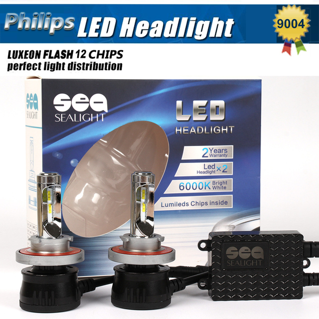 1 xPair Car Styling 12000LM 96 w H4 Led Headlight Hi/Lo Del Coche Led linterna Auto Bombillas LED 9004 9007 Led Faro Lámpara Reemplazar HID