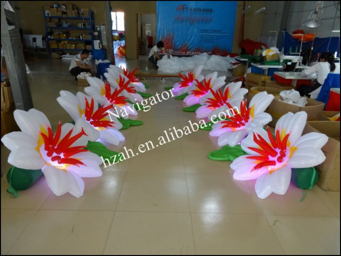 Wedding Inflatable Flower Road 2017 new inflatable flower long wedding decoration flower
