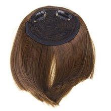 НОВЫЕ Синтетические Волосы Fringe Удары Парик с 2 Клипов-Светло-Коричневый