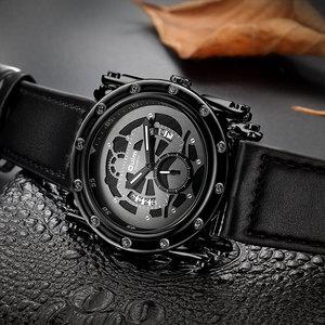 Image 5 - Oulm 新スタイル腕時計カレンダークォーツ時計男性ユニークなデザインの高級腕時計腕時計レロジオ masculino