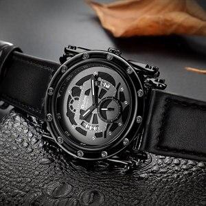 Image 5 - Oulm w nowym stylu zegarki mężczyźni zwykły kalendarz zegar kwarcowy mężczyzna unikalna konstrukcja luksusowe męskie skórzane zegarki relogio masculino