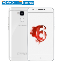 Doogee Y6 Piano Blanc D'empreintes Digitales mobile téléphones 5.5 Pouces HD 4 GB + 64 GB Android6.0 Double SIM MTK6750 Qcta Core 13.0MP 3200 mAH LTE GPS