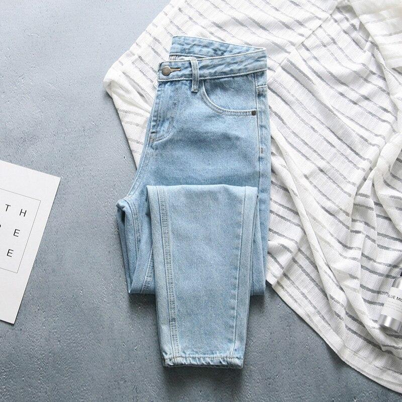 2019 Spring New Arrival Women High Waist Slim Washed   Jeans   Female Brand Designer Chic Casual Denim Blue Pants