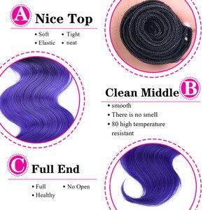 Пряди из синтетических волос, 16-20 дюймов, с закрытием, фиолетовые, розовые, зеленые, средняя часть, 4 шт./лот, 230 г
