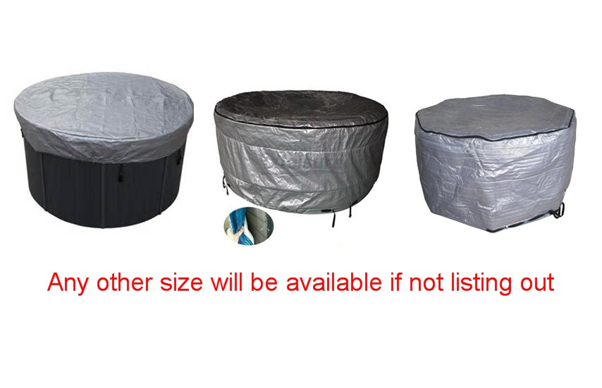 Round hot tub spa cover cap spa pool round cover bag any request size available 2200mmx1900mm hot tub spa cover leather skin can do any other size