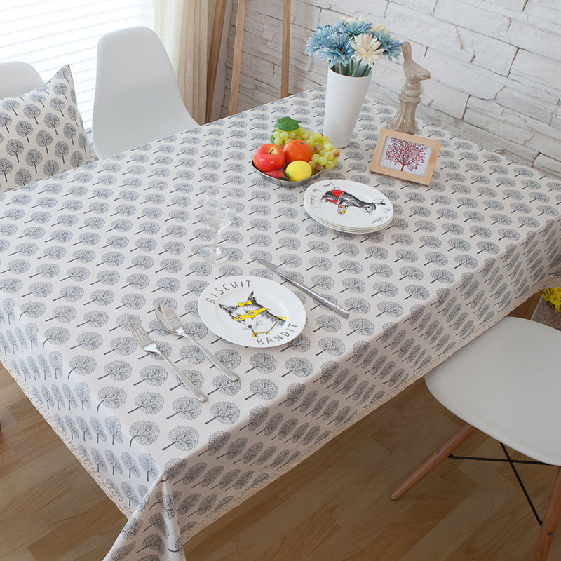 Fashion Tree Print Tablecloth Rectangular Dining Table Cover Cotton Wedding Party Banquet Hotel Kitchen Home Decor tafelkleed in Tablecloths from Home Garden