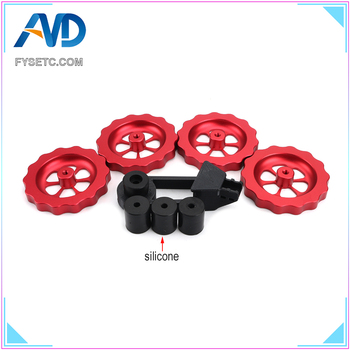 Silicone Solid Spacer And Bed Mount Strain Relief Bracket + Red Knob Leveler M4 Thread Twist Leveling For CR-10/CR10S Ender-3