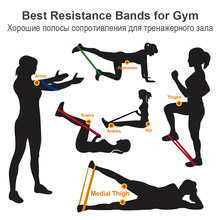 Copozz 30cm elastic resistance bands for fitness exercise yoga sport mini bands bandas de resistencia weerstand band fitness(China)