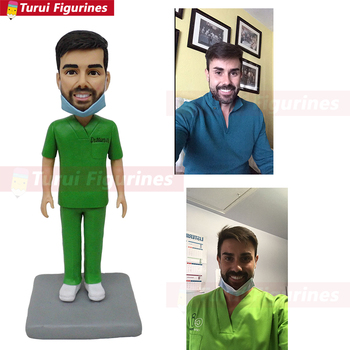 doctor figurine miniature custom polymer clay doll mini statue hanmade customized birthday cake topper souvenir collectible peop