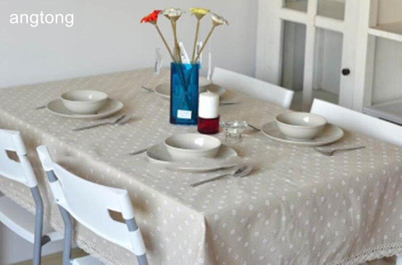 פסטורלי רוח קטן פרח או דובדבן הדפסת כותנה פשתן אוכל שולחן בד רב תכליתי תה שולחן ספת כיסוי בד T286