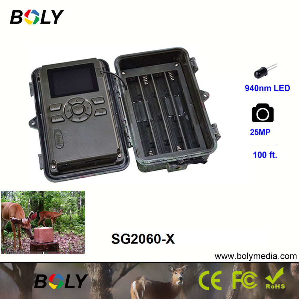 hunting cameras motion sharp 25MP night vision 100 ft Boly 1080P photo trap invisible IR LED 940nm game cameras in Hunting Cameras from Sports Entertainment