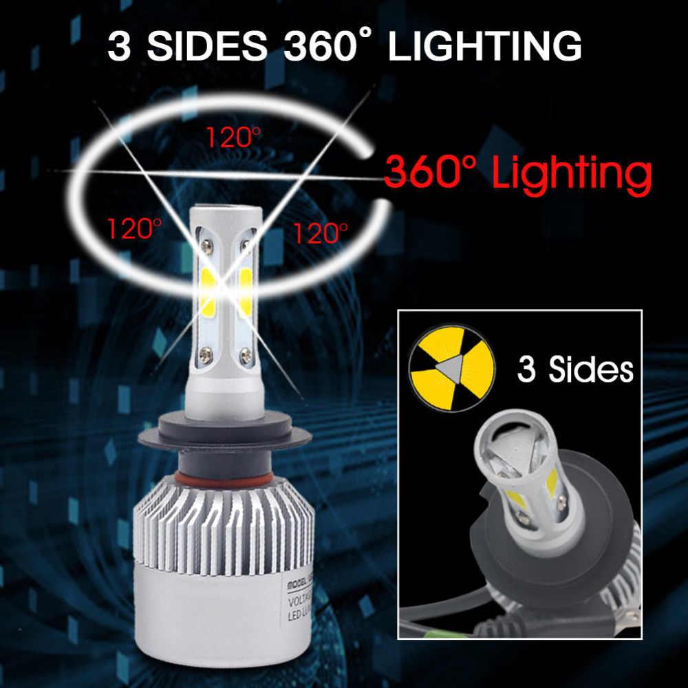 H7 Led H11 H8 H9 9005 HB3 9006 HB4 רכב פנס הנורה 3 צדדים COB סופר בהירות 6500 k led ערפל אורות אוטומטי מנורת לבן 12 v 24 v
