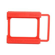 2.5 to 3.5 Inch SSD Notebook HDD Hard Disk Mounting Adapter Dock Holder Red QJY99