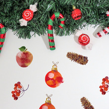 6 Sheets New Christmas Decorative Decal Removable Diy Xmas Glass Wall Stickers Merry Eve Apple Bell Sticker