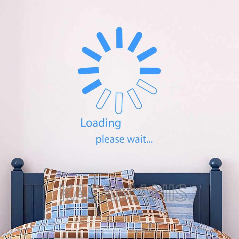 Виниловые наклейки на стены для видео-игр, декор для спальни, компьютерный дизайн, наклейка на стену, персональный узор, украшение для дома