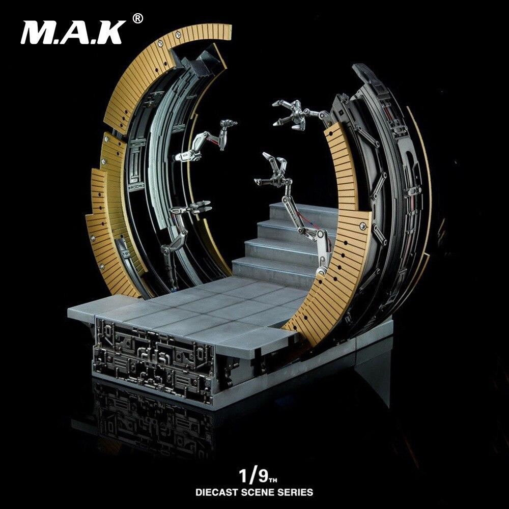 Литой серии сцена 1:9 литья под давлением KSS007 Mark VI перемещение козловой Дисплей базы Железный человек MK6 фигура модель игрушки без Железный ч