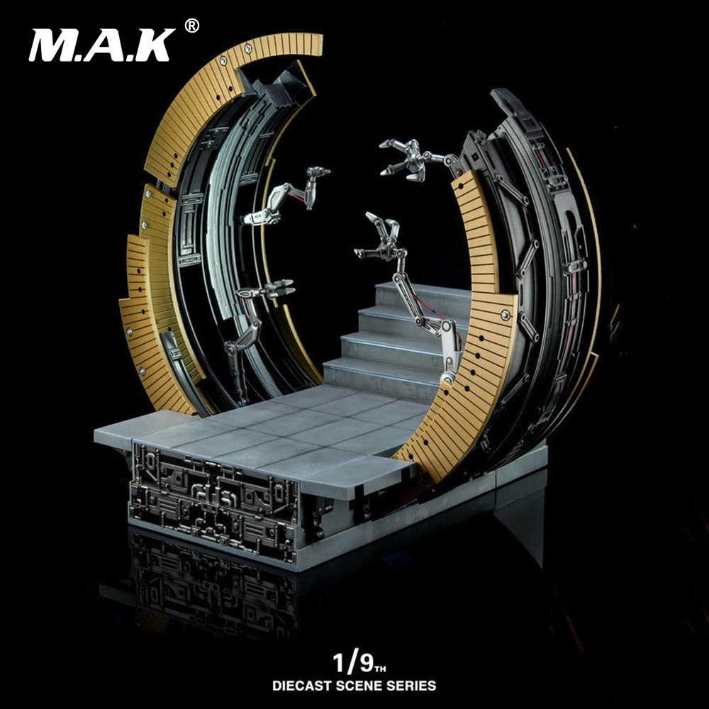 Литой серии сцена 1:9 литья под давлением KSS007 Mark VI перемещение козловой Дисплей базы Железный человек MK6 фигура модель игрушки без Железный человек