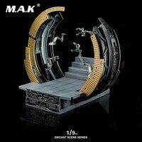 DIECAST SCENE SERIES 1:9 Diecast KSS007 Mark VI Moving Gantry Display Base Iron Man MK6 Figure Model Toy Without Iron Man