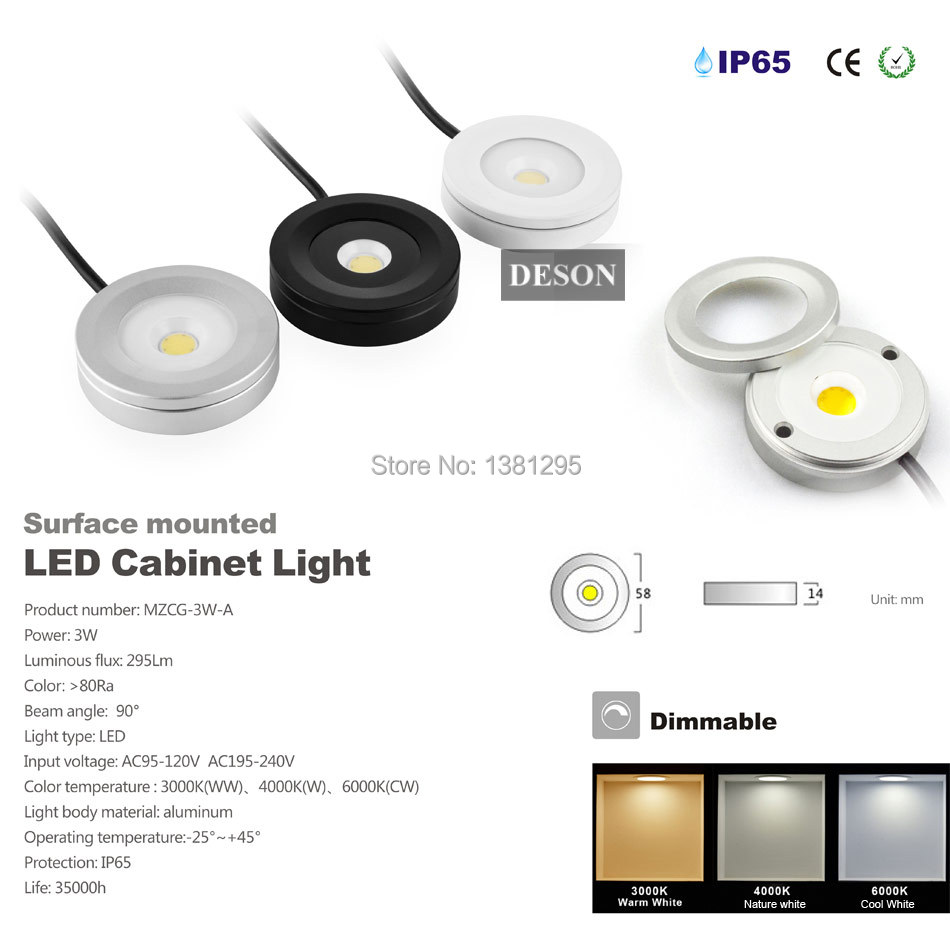Aliexpress.com : Buy Led Puck Light Thin Kitchen Under Cabinet LED ...