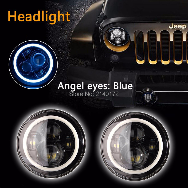 7inch Round Front Light Beam 40W LED Driving Light Headlight with Angel eyes for Jeep Wrangler JK Hummer 7inch round front light beam 40w led driving light headlight with angel eyes for jeep wrangler jk hummer