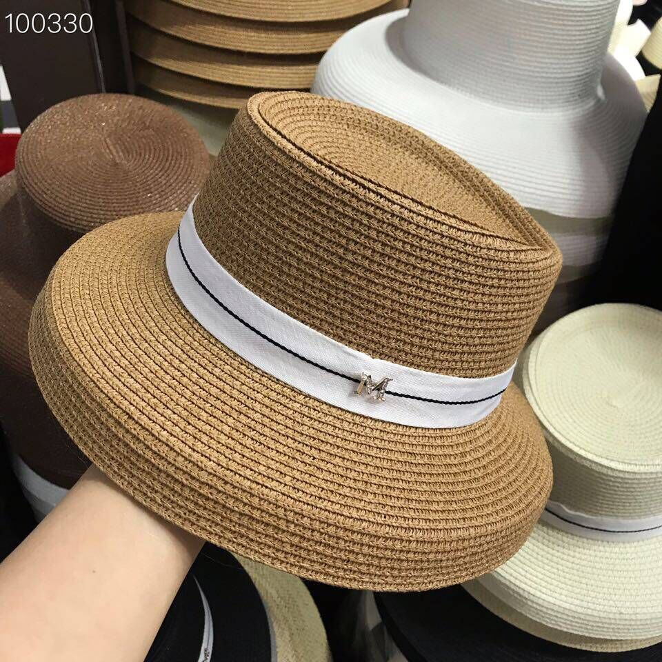 01903-yuchun-M 2019 new summer M letters small Lampshade modeling Hepburn style lady sun cap women leisure hat