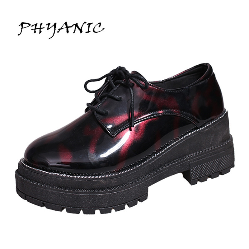 PHYANIC Women Pumps Lace-up Women Oxfords Simple Thick Heel Shoes Platform Shoes Woman Spring And Autumn Shoes PHY9111 hxrzyz spring autumn new shoes woman ladies leather thick heel fashion style shoes lace up rubber bottom women shoes black pumps