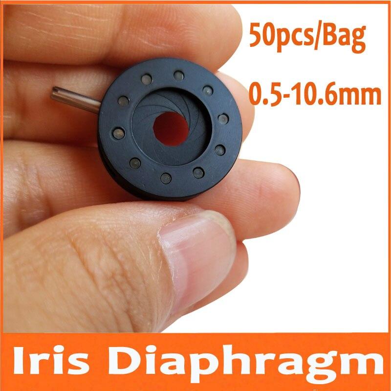 50pcs 0.5-10.6mm  Adjustable Light Regulator Industrial Camera Microscope Adapter Iris Diaphragm Aperture Condenser 8 Leaves