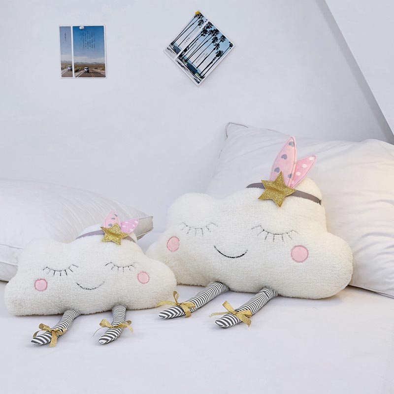 HTB1 8oqbh2rK1RkSnhJq6ykdpXaT Cloud Baby Decorative Cushion for Sofa Chair Plush Toys Stuffed Doll Kids Room Decor Throw Pillows Car Back Cushions